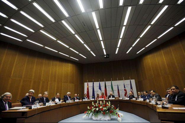 Accord historique à Vienne sur le nucléaire iranien, le 14 juillet 2015.