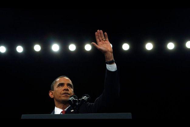 Barack Obama, lors de son discours à l'académie militaire de West Point (New York).
