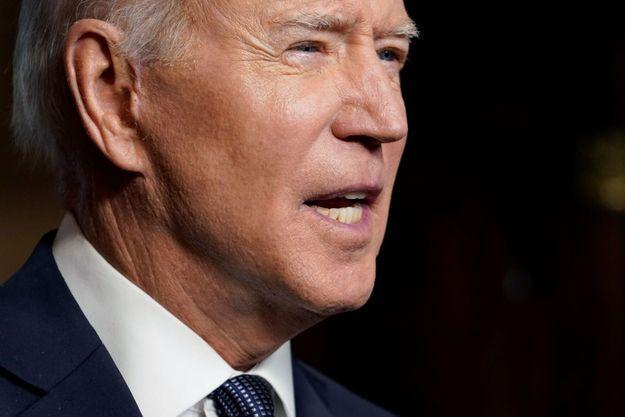 Joe Biden à la Maison Blanche, annonçant le retrait des troupes américaines en Afghanistan, le 14 avril 2021.