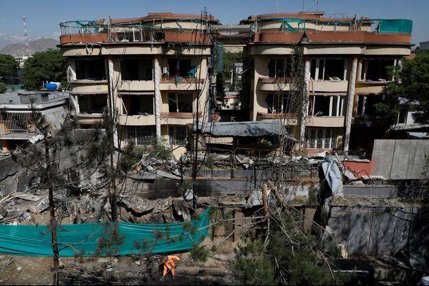 Les lieux de l'explosion en Afghanistan.