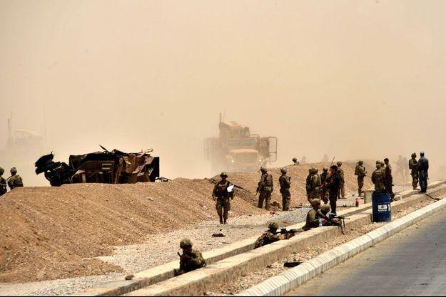 Le convoi attaqué près de Kandahar, en Afghanistan.
