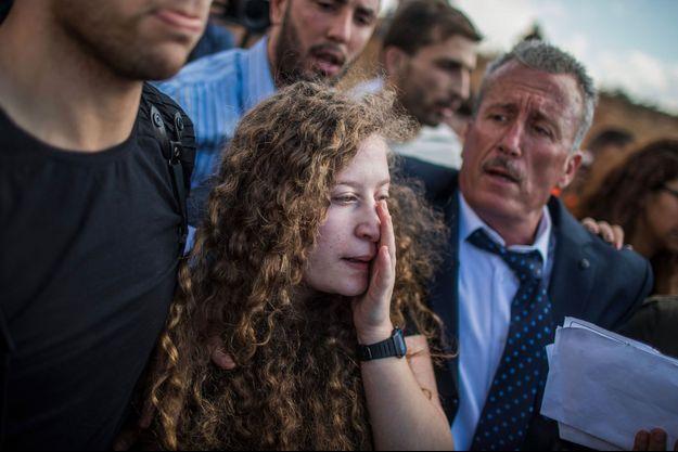Ahed Tamimi en Cisjordanie, après sa libération, dimanche.