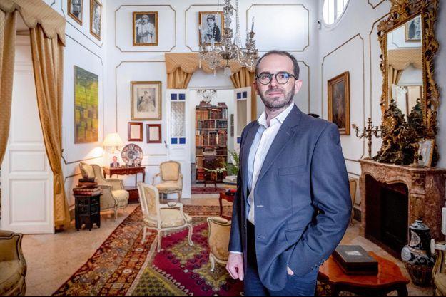 Ahmed Zaouche, dans sa maison familiale à Tunis.