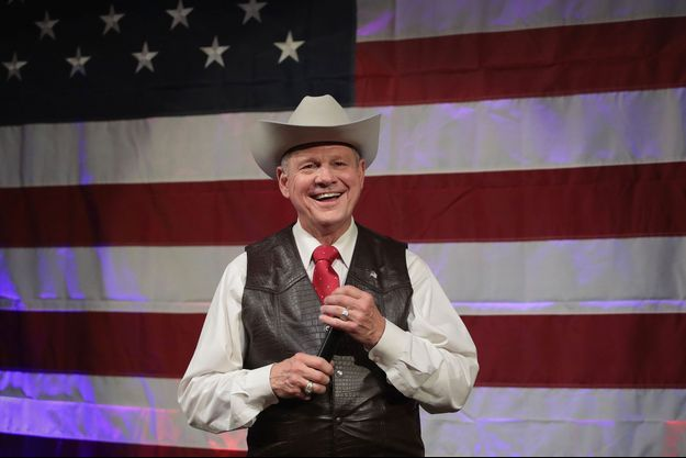 Roy Moore lors d'un meeting le 25 septembre à Fairhope, dans l'Alabama.
