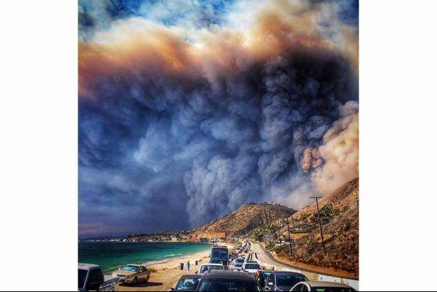 L'incroyable photo prise à Malibu.