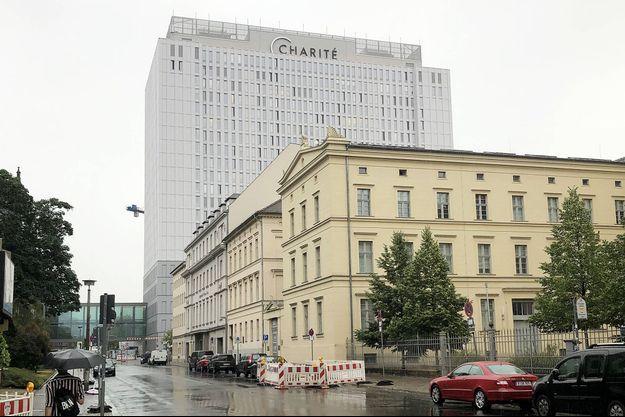 Illustration de l'hôpital de la Charité de Berlin où l'opposant russe Alexeï Navalny a été intégré en soins après un empoisonnement