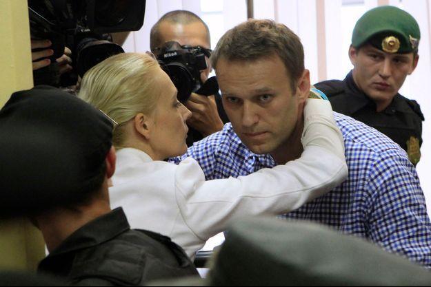 Alexeï Navalny, quelques minutes après le verdict.