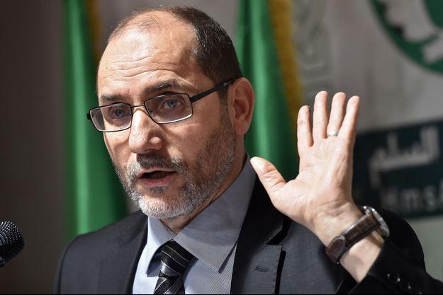 Abderrazak Makri, candidat du parti Mouvement de la société pour la paix en Algérie.