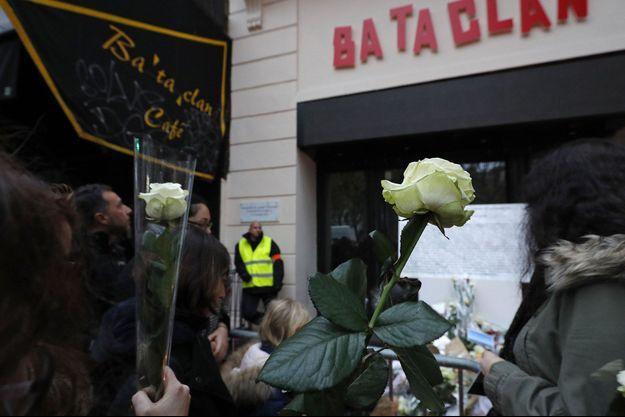 Le Bataclan le 13 novembre dernier après une cérémonie hommage aux victimes.