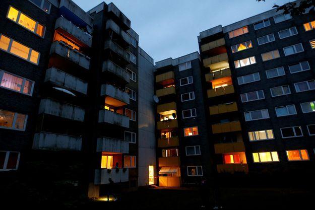 Voici l'immeuble où résidaient Christiane K et ses six enfants.