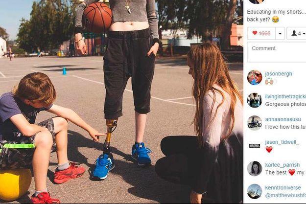 Photo Instagram du compte de Lauren Wasser.