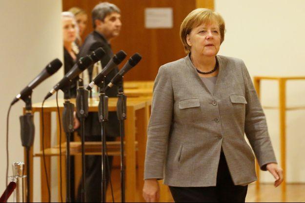 Angela Merkel dimanche lors des négociations pour former un gouvernement en Allemagne.