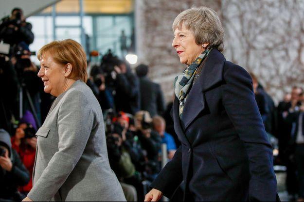 Angela Merkel et Theresa May à Berlin.