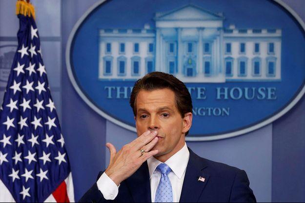 Anthony Scaramucci lors d'un brief à la Maison Blanche le 31 juillet dernier.