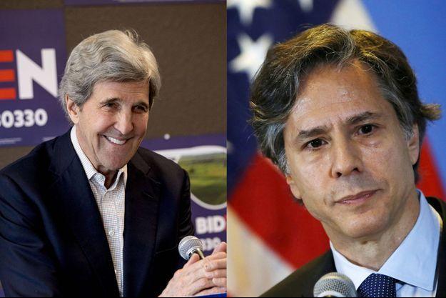 John Kerry,lors de la campagne et Antony Blinken, ici en 2015.