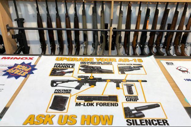 Un magasin d'armes à Christchurch