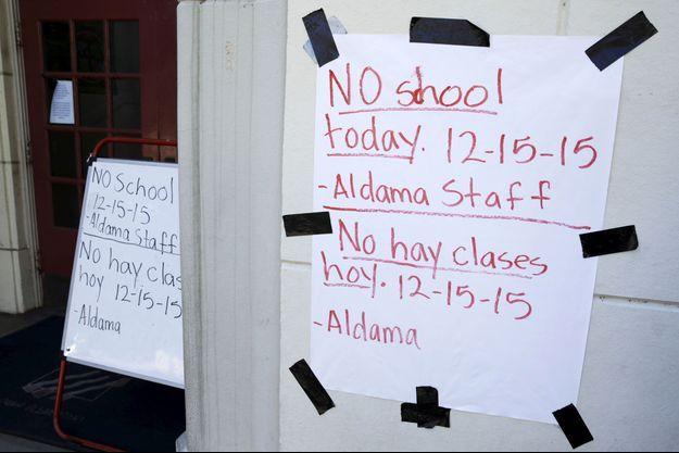 Les écoles ont été fermées mardi à Los Angeles