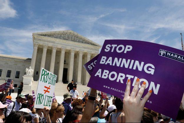 Manifestation devant la Cour suprême à Washington, en mai 2019.