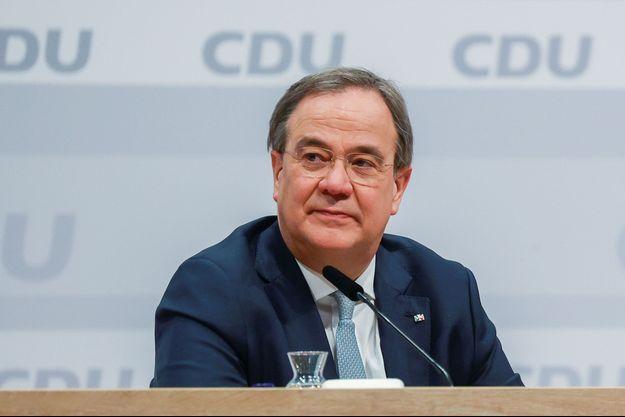 Le nouveau dirigeant de la CDU, Armin Laschet, samedi.