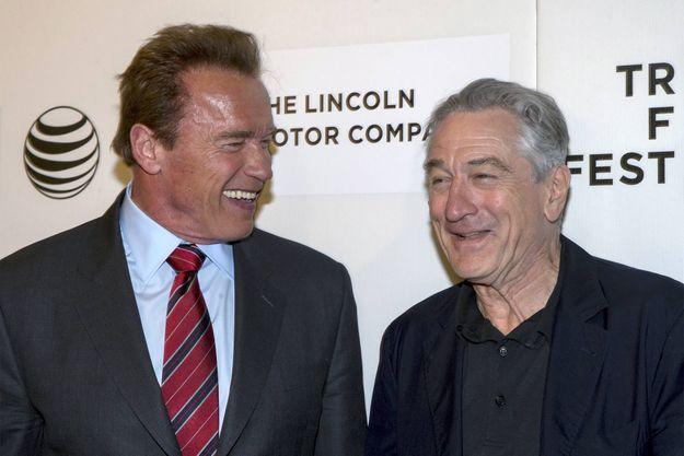 Arnold Schwarzenegger et Robert de Niro, le 23 avril 2015.