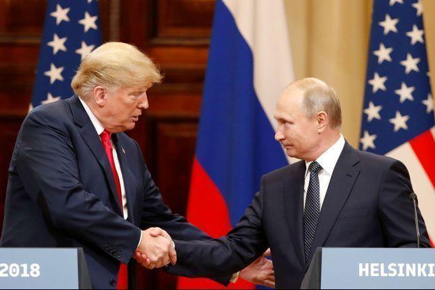Donald Trump et Vladimir Poutine à Helsinki, le 16 juillet 2018.