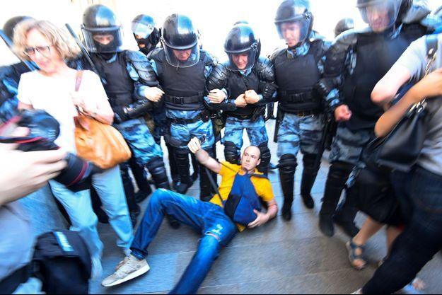 Manifestation à Moscou, le 27 juillet.