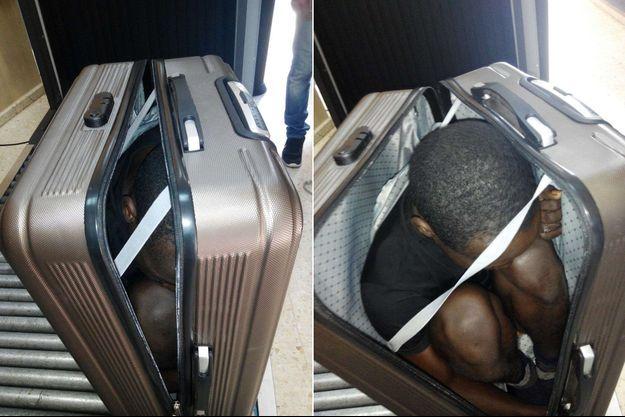 Le jeune Gabonais de 19 ans a tenté de passer la frontière espagnole dans une valise.
