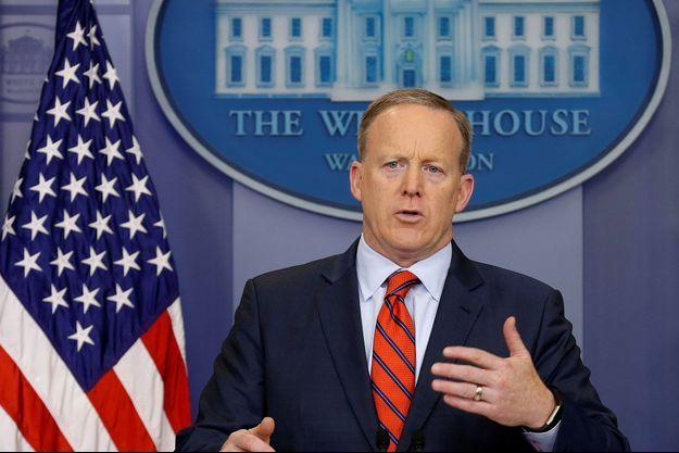 Sean Spicer à La Maison Blanche, le 11 avril dernier.