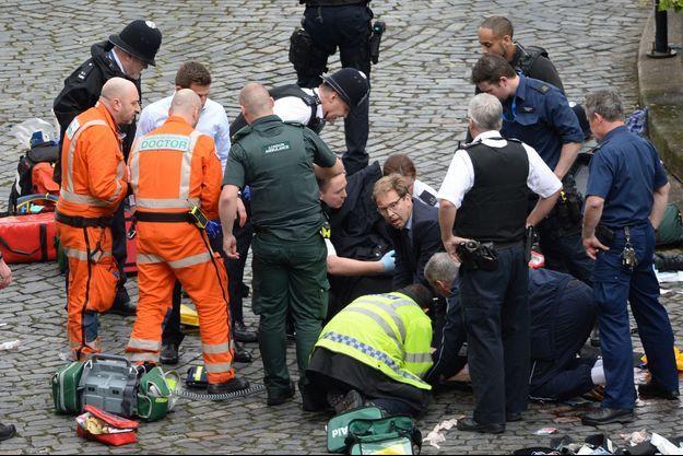 Le parlementaire britannique Tobias Ellwood, mercredi à Londres.