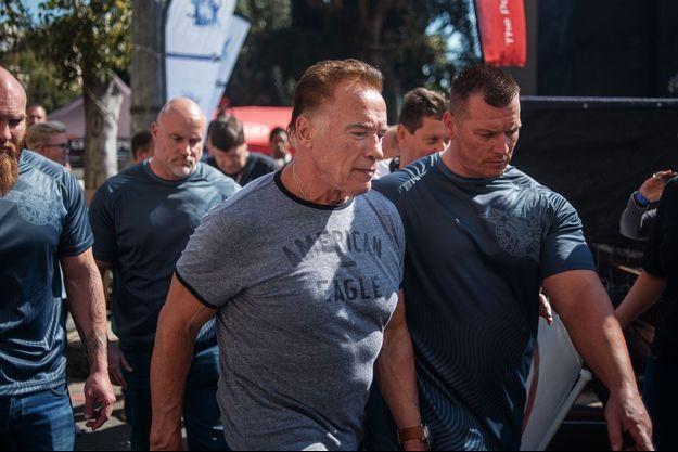 Arnold Schwarzenegger à la Sandton Convention Centre de Johannesburg.