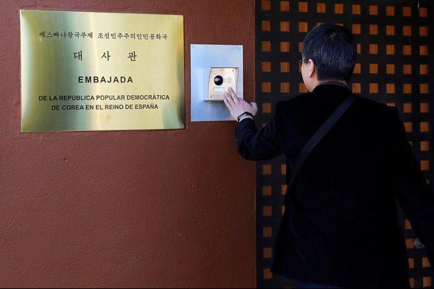 L'ambassade nord-coréenne à Madrid, en Espagne.