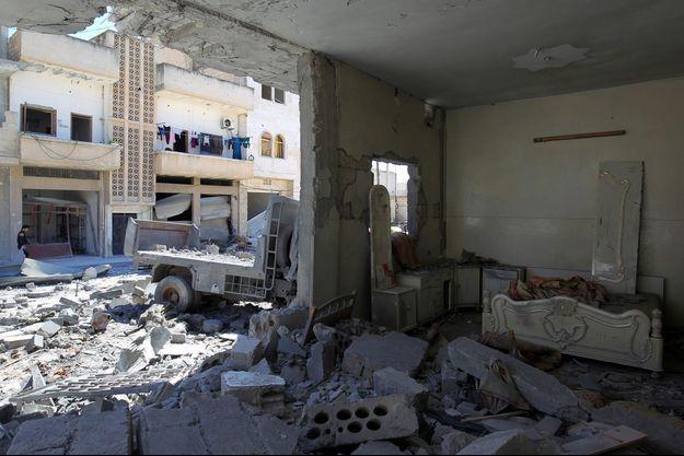 Des ruines en Syrie.