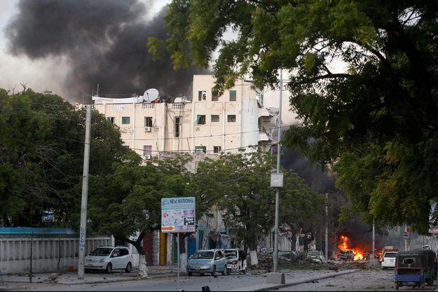 L'hôtel Ambassador de Mogadiscio a été pris d'assaut par des miliciens Shebab mercredi.
