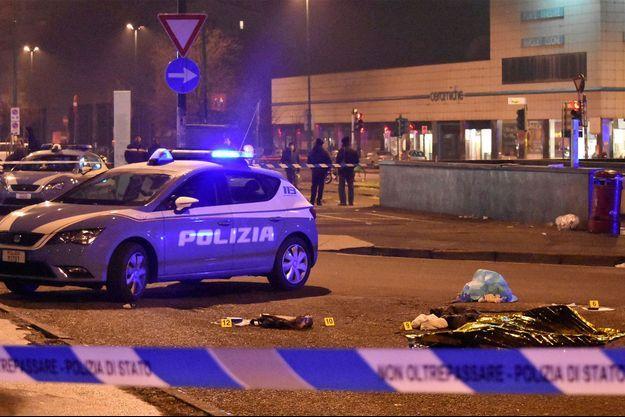 Le cadavre du terroriste présumé tué en Italie.