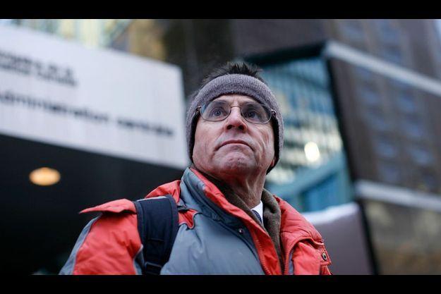 Hassan Diab lors d'une manifestation contre son extradition, le 20 janvier dernier à Ottawa.