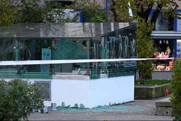 Sur les lieux de la fusillade à Vienne.