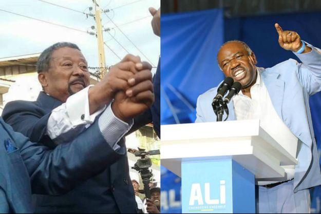 La campagne de l'élection présidentielle qui se tiendra le 27 août 2016 au Gabon prend les tournures de duel entre le président sortant Ali Bongo Odimba (à dte) et Jean Ping (à g).