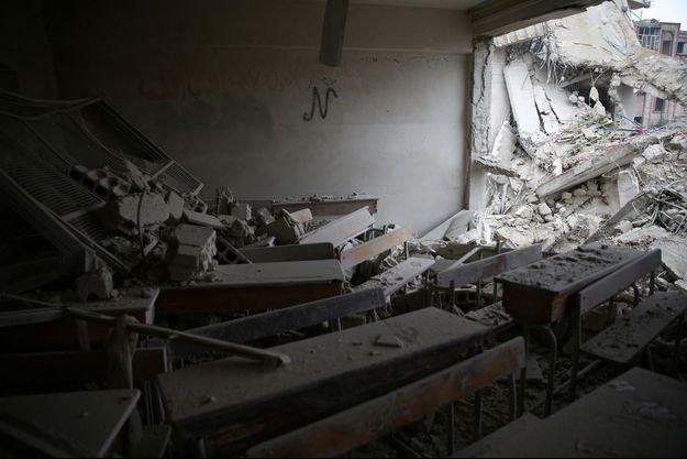 Image d'illustration. Une maison en ruines à Damas.
