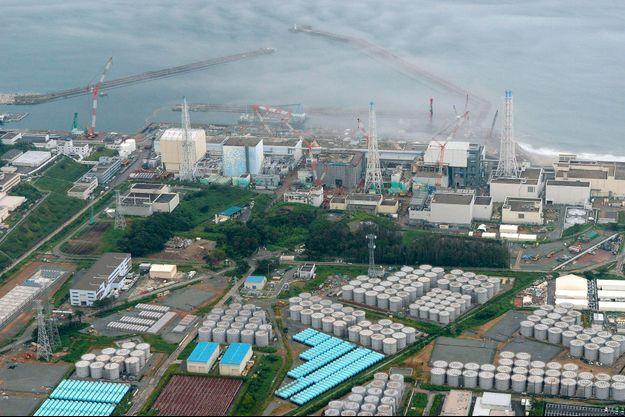 vue aérienne de la centrale de Fukushima, prise le 20 août 2013.