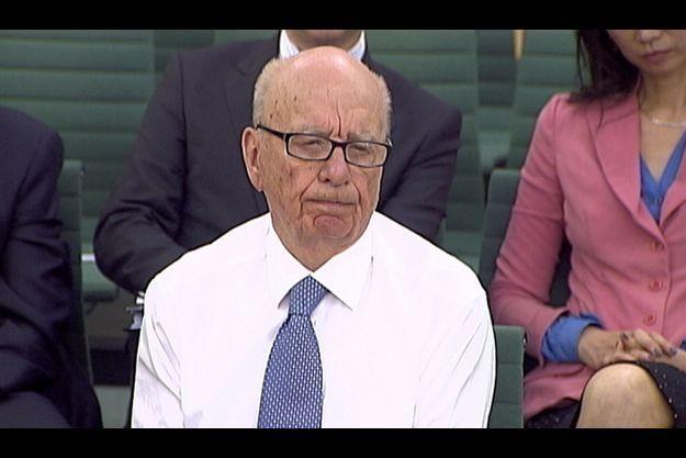 Rupert Murdoch, mardi, lors de son audition parlementaire.