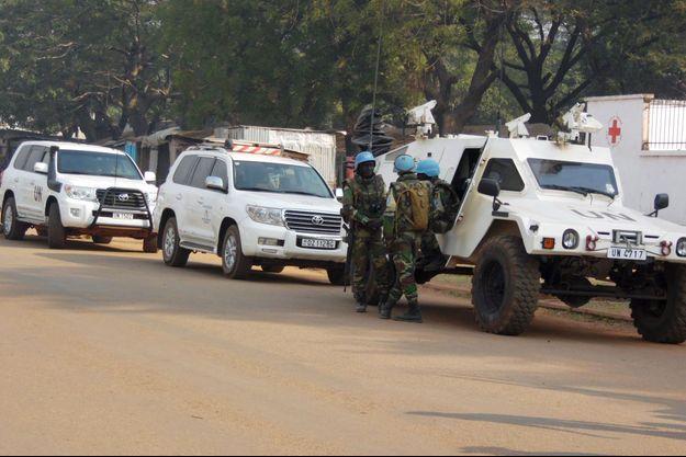 Des Casques bleus à Bangui, en République centrafricaine (Image d'illustration).