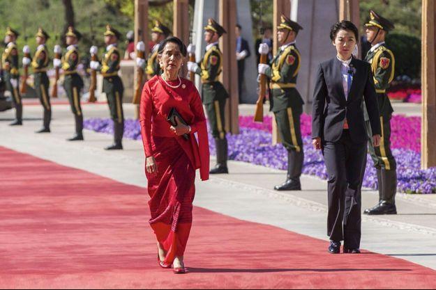 La « dame de Rangoun » – ici le 15 mai à Pékin