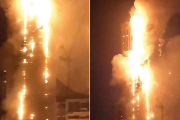 Le feu a démarré au 10e étage de la tour.