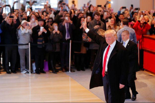 Donald Trump dans les locaux du «New York Times», le 22 novembre.