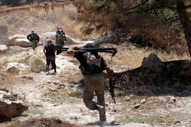 Des rebelles syriens à Idlib, en juillet dernier.