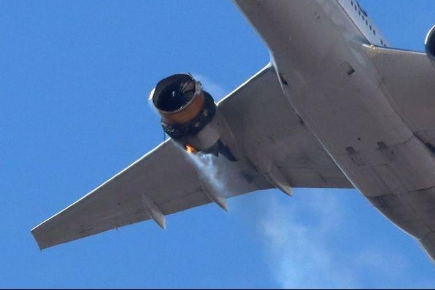 Le Boeing 777 de la compagnie United Airlines a subi un incendie de réacteur, qui n'a fait aucun blessé.