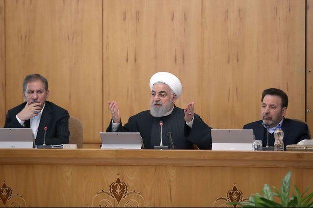 Le président iranien Rohani s'est exprimé après une réunion ministérielle.