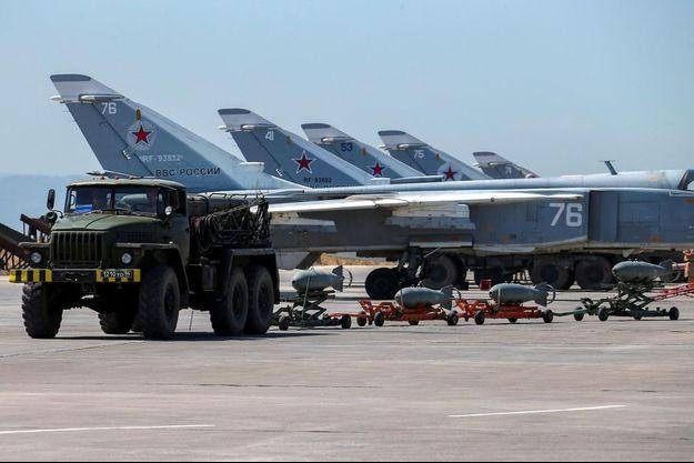 L'avion rentrait à la base aérienne de Hmeimim, en Syrie (image d'illustration)