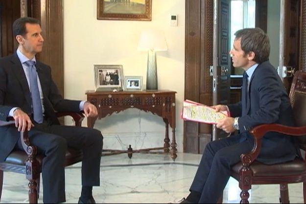 David Pujadas a interviewé Bachar El-Assad.
