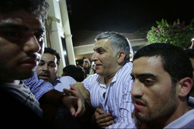 Nabeel Rajab à sa sortie de prison le 24 mai.